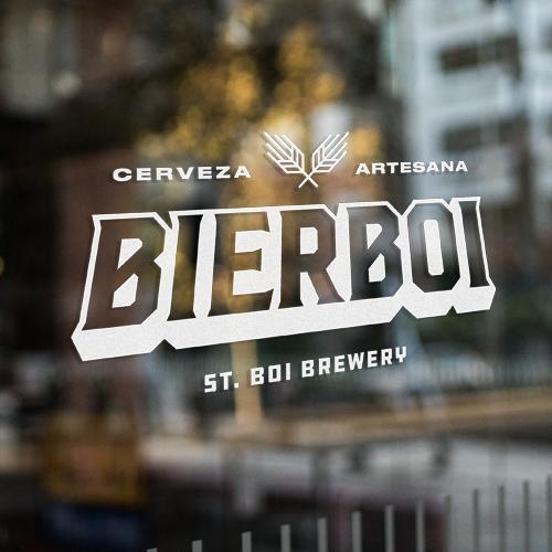 diseño logotipo fábrica cerveza artesana Bierboi